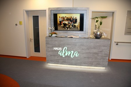 Eingangsbereich Haus alma